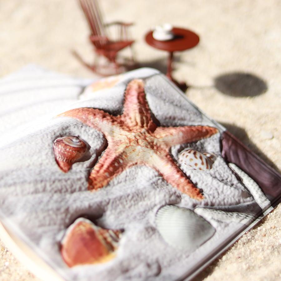 バンピーテックスブックカバー 砂浜の宝物