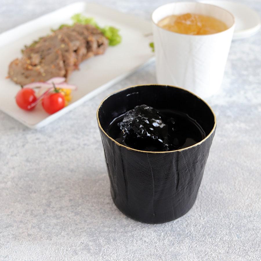 ceramic mimic fabric リネン ロックグラス(色付き)