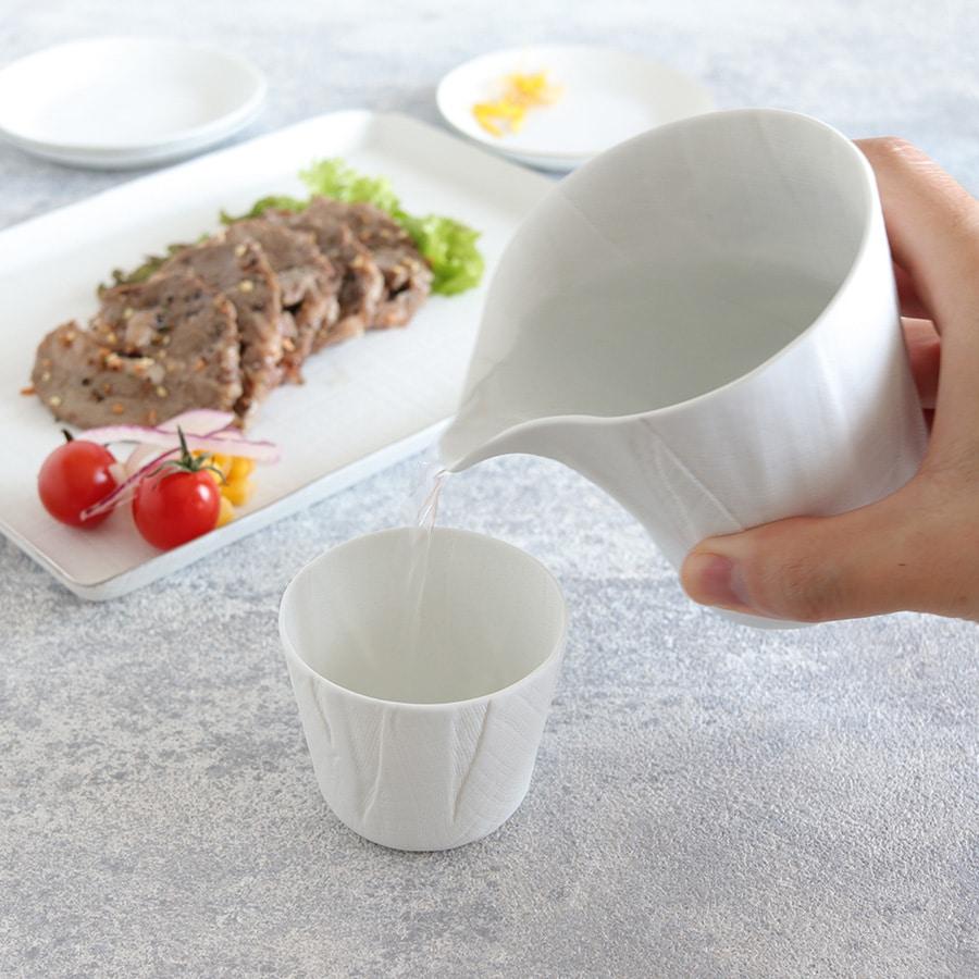 ceramic mimic fabric リネン 片口(プレーン)